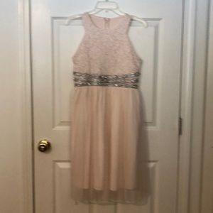 Speechless blush tea length party dress 14.5